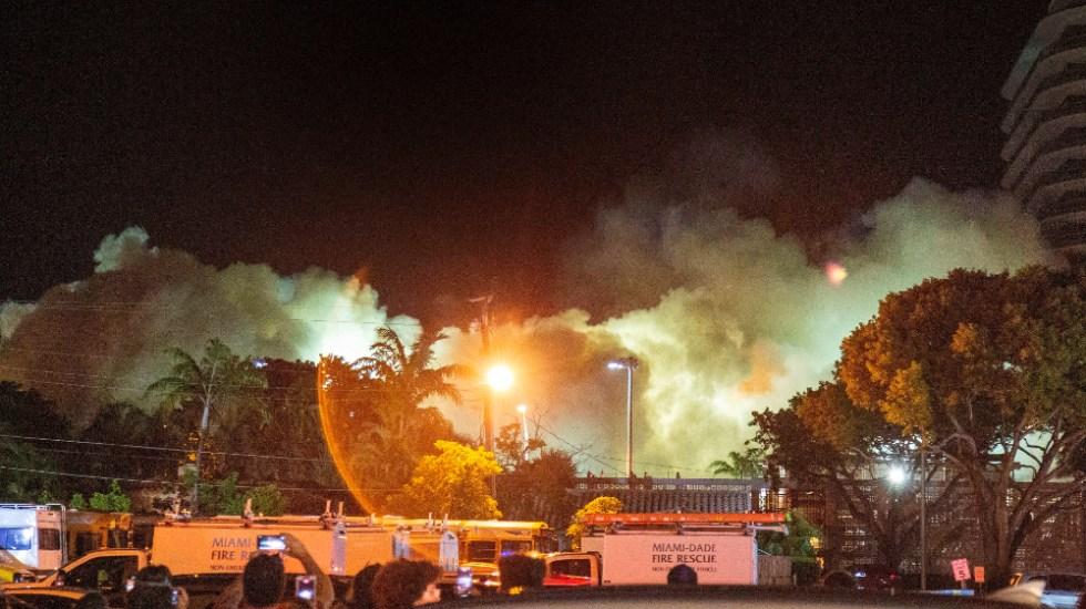 """""""¿No se pudieron esperar?"""": AMLO critica demolición de edificio colapsado en Miami - Miami edificio Florida Surfside demolición"""