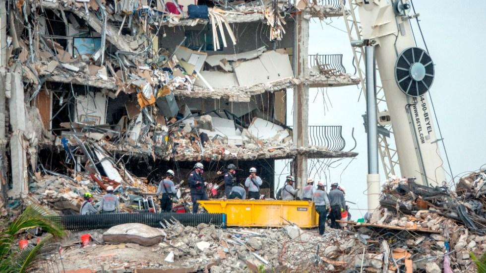 Se eleva a 27 número de víctimas por colapso en edificio de Miami - edificio Miami Surfside derrumbe