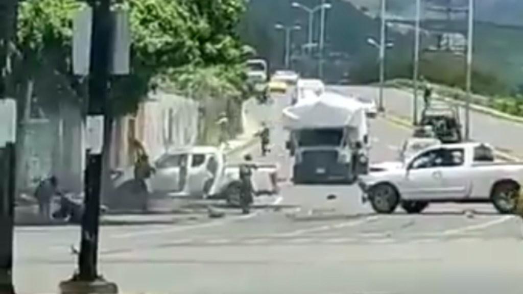Enfrentamiento en Tepic entre GN y sujetos armados deja al menos dos muertos - Enfrentamiento Tepic Nayarit México
