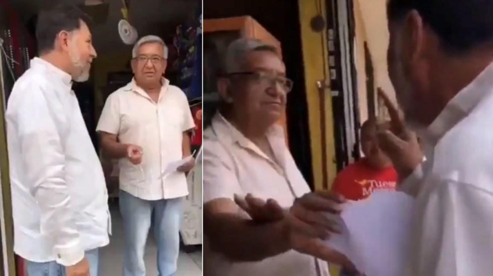 Resurge video de Fernández Noroña donde discute a gritos con hombre de la tercera edad - Fernández Noroña gritos discusión