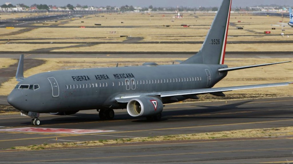 Avión de la Fuerza Aérea Mexicana.Foto de FlightAware