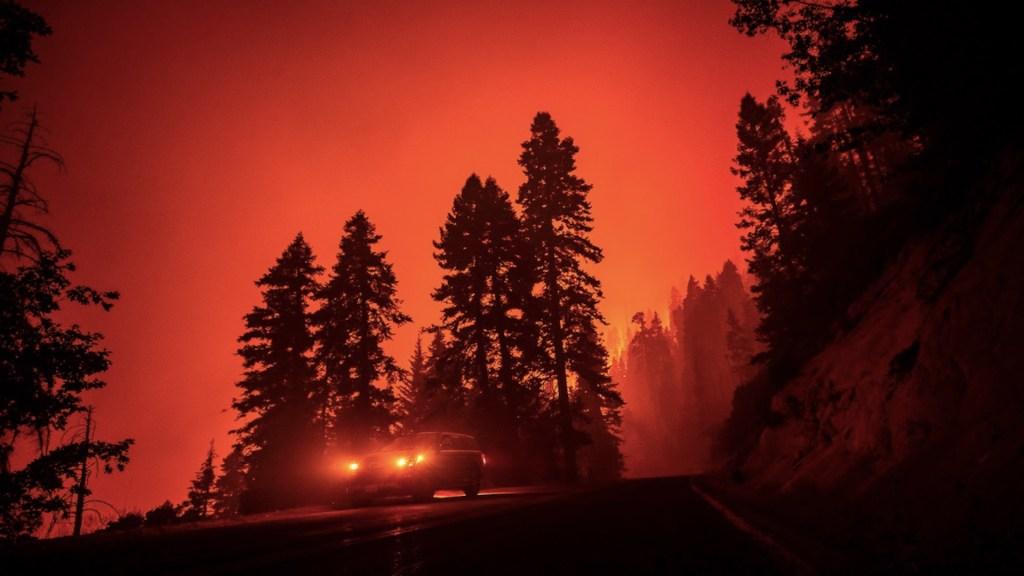 El mayor incendio activo en EE.UU. supera las 80 mil hectáreas calcinadas. Foto de EFE