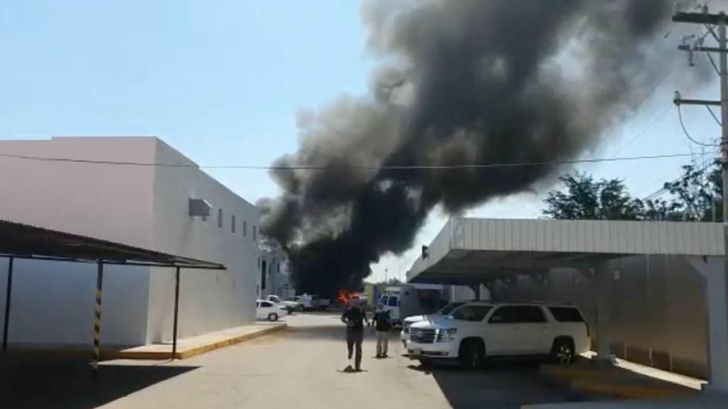 Incendio FGR Culiacán Sinaloa