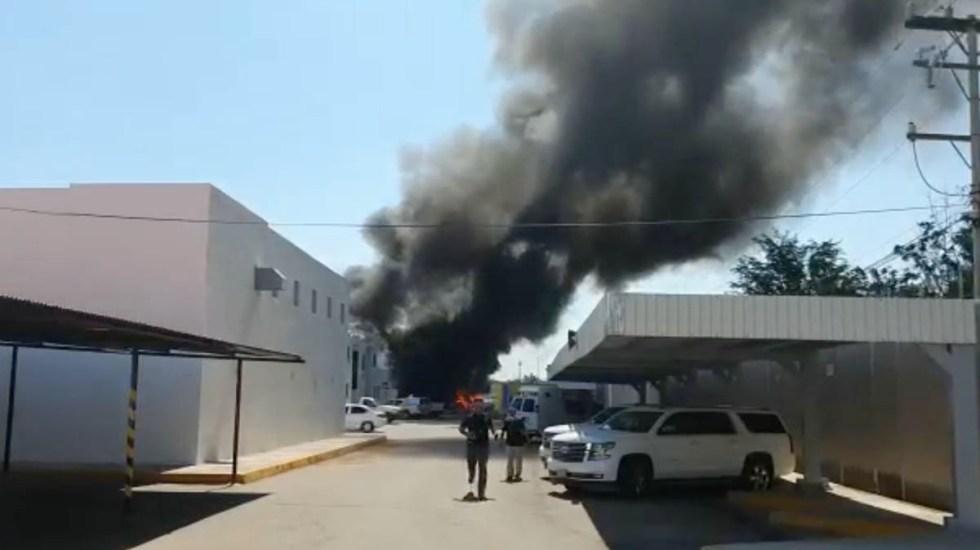 Fuerte incendio consume bodega de FGR en Culiacán, Sinaloa - Incendio FGR Culiacán Sinaloa