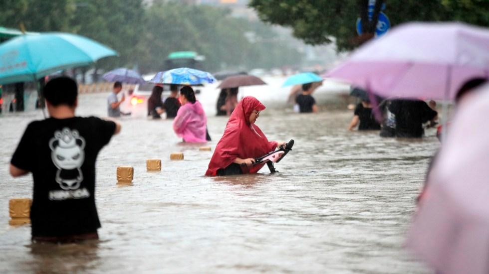 Aumentan a 33 los muertos en China por inundaciones inéditas - Inundaciones en China. Foto de EFE