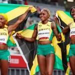 Jamaica celebra barrida olímpica en los 100 metros de Tokio 2020 - Jamaica atletismo 100 metros Tokio 2020