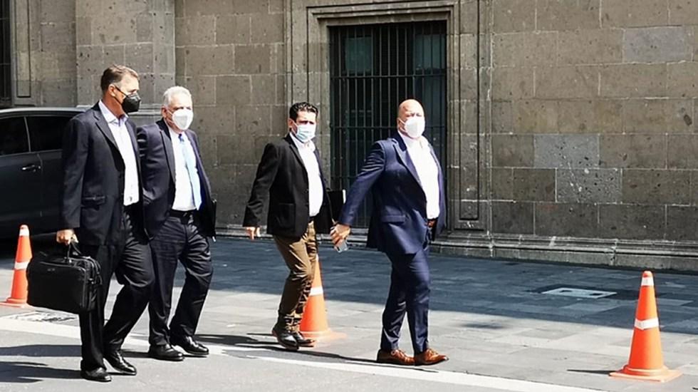 López Obrador y Enrique Alfaro se reúnen por tercera vez por infraestructura y seguridad - Llegada del gobernador Enrique Alfaro a Palacio Nacional. Foto de Milenio