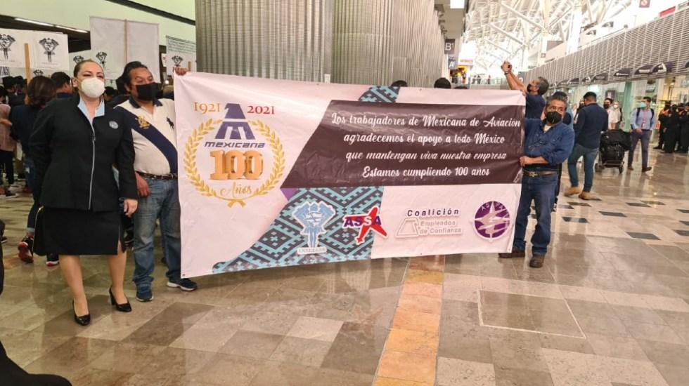 Celebran trabajadores en AICM centenario de Mexicana de Aviación - Mexicana de Aviación 100 años 12 julio 2021