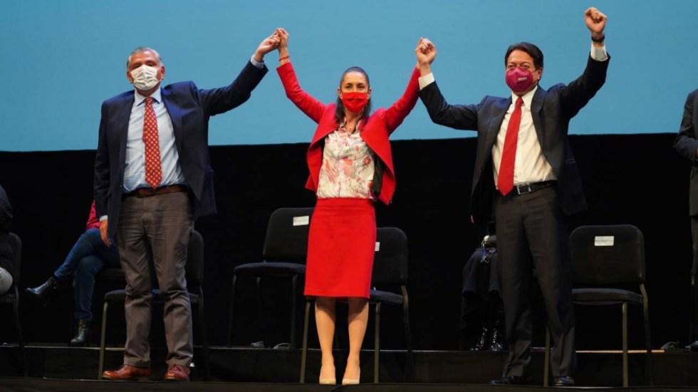 Morena celebra aniversario del triunfo de AMLO; ovacionan a Sheinbaum y abuchean a Delgado - Morena Claudia Sheinbaum México