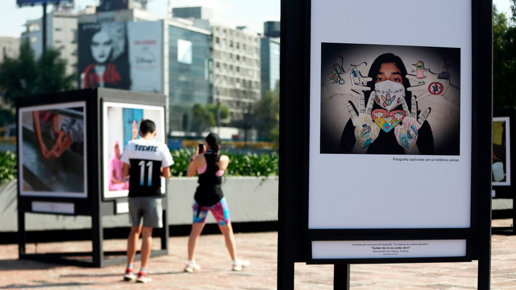 Unicef reclama higiene para niños y jóvenes en México - Muestra fotográfica La higiene es nuestro derecho de Unicef. Foto de EFE