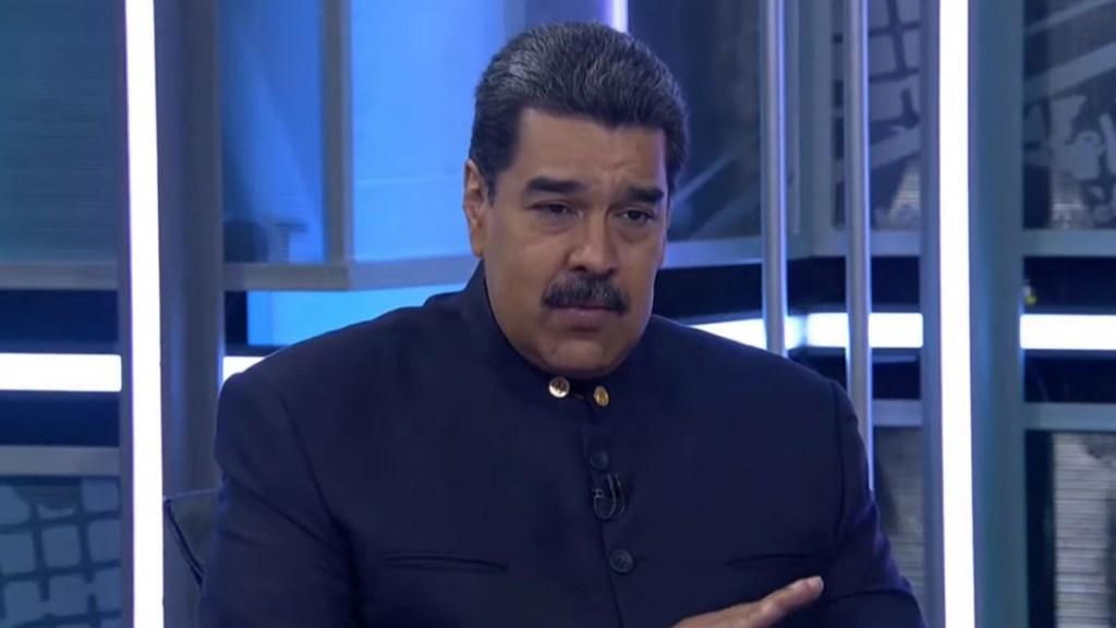 """Maduro apoya desaparición de la OEA; """"es una organización nefasta"""", dice - Nicolás Maduro en entrevista con TeleSur. Captura de pantalla"""
