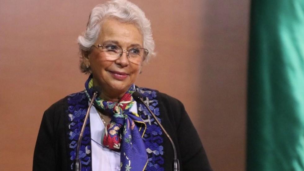 Sánchez Cordero descarta ir por la Presidencia en 2024 - Olga Sánchez Cordero. Foto de @ALEIDAALAVEZ