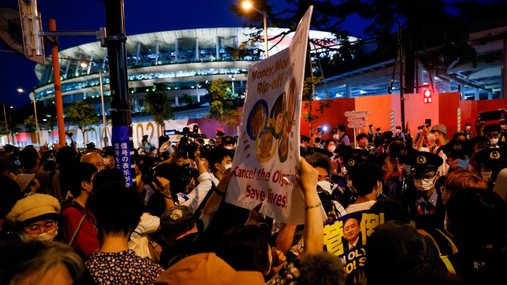 protestas Estadio Tokio 2020