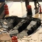 Cae rayo en centro comercial de Naucalpan, en el Edomex