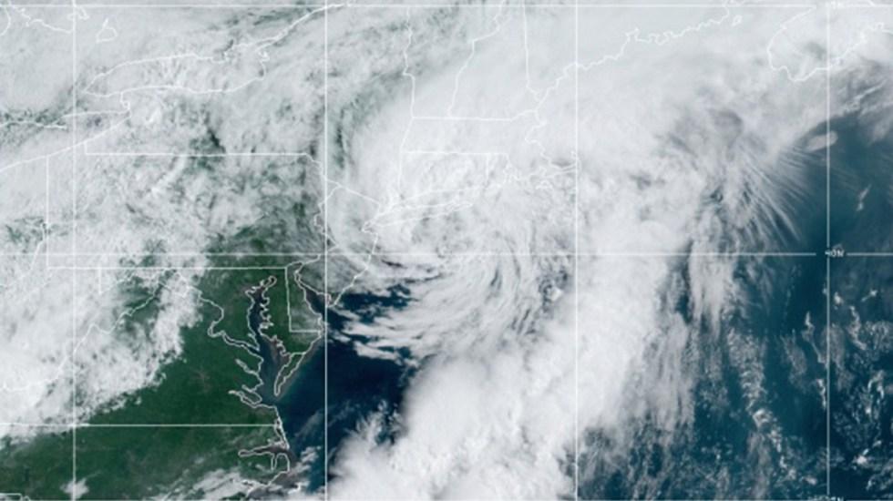 Tormenta tropical Elsa descarga fuertes lluvias en Nueva York y el noreste de EE.UU. - Tormenta tropical Elsa a su paso por EE.UU. Foto de NOAA / GOES