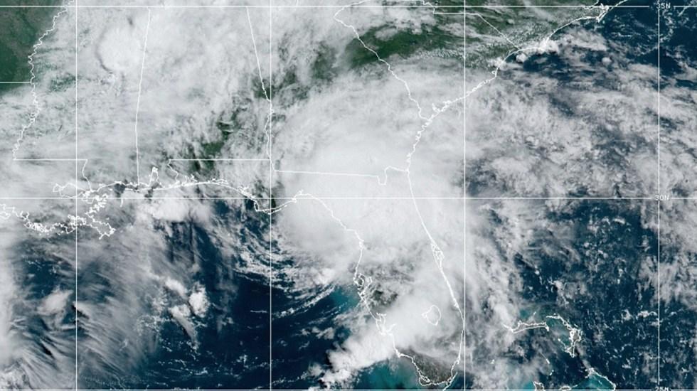 Elsa toca tierra en Florida como tormenta tropical - Tormenta tropical Elsa al tocar tierra en Florida. Foto de NOAA / GOES