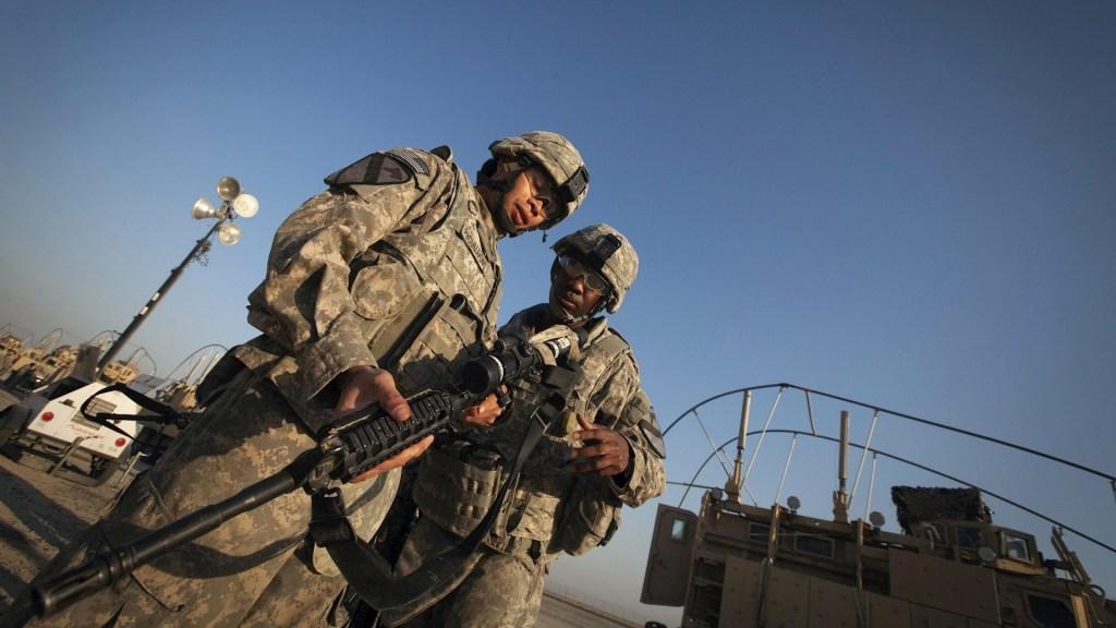 Soldados de la 3ª Brigada, 1ª División de Caballería del Ejército estadounidense. Tropas en Irak. Foto de EFE/ Lucas Jackson/ Pool/ Archivo.