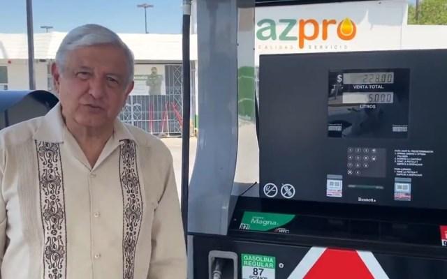 """""""Ya no hay gasolinazos"""" en México, asegura López Obrador desde la frontera - AMLO López Obrador frontera Ciudad Juárez Gasolinazos"""