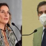 """Beatriz Gutiérrez reprocha no poder votar en consulta popular; """"No es una cuestión del INE"""", responde Lorenzo Córdova"""