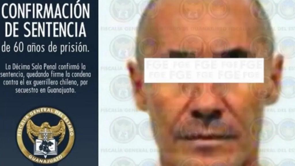 Ordenan extradición a Chile del 'Comandante Emilio', secuestrador de Diego Fernández de Cevallos - SRE confirma extradición temporal del Comandante Emilio. Foto de FGJ Guanajuato