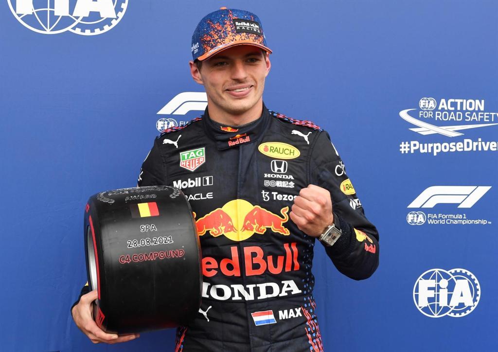 Verstappen gana la carrera más corta de la historia del GP en Bélgica - Max Verstappen