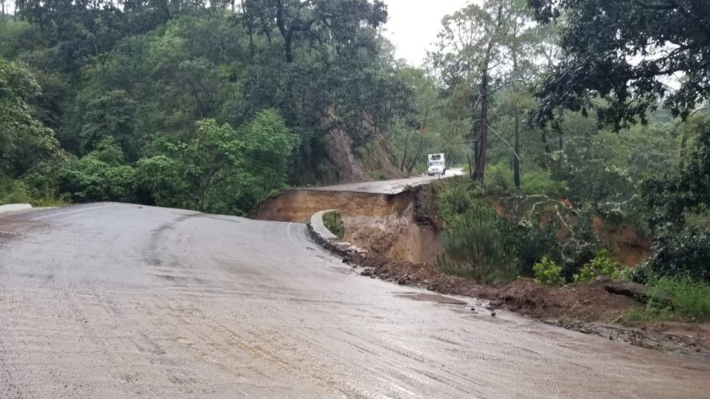Colapsa Carretera Estatal 428 en Jalisco tras paso de Nora - Jalisco carretera estados Nora