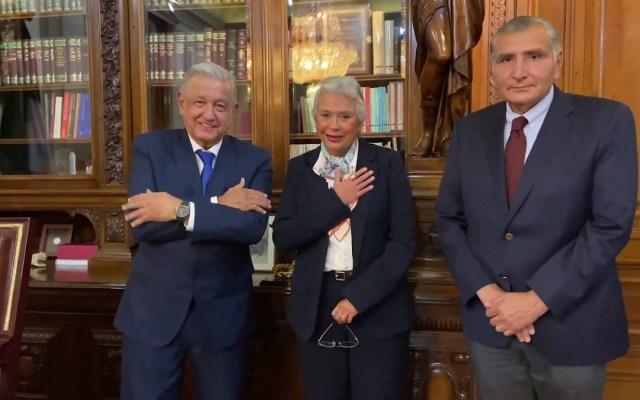 Adán Augusto López, nuevo titular de la Segob - López Obrador, Sánchez Cordero y Adán Augusto