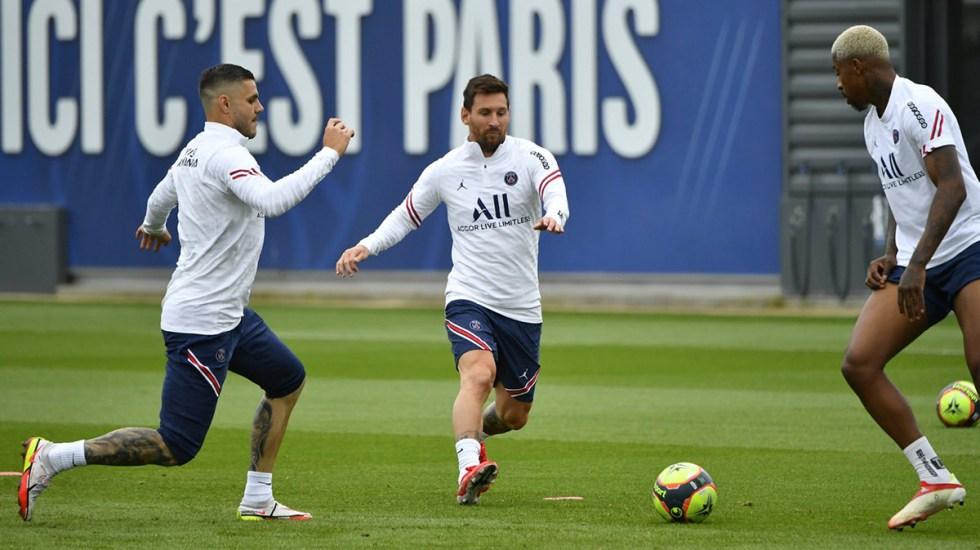 PSG deja fuera a Messi del partido contra el Brest - Messi en entrenamiento con el PSG