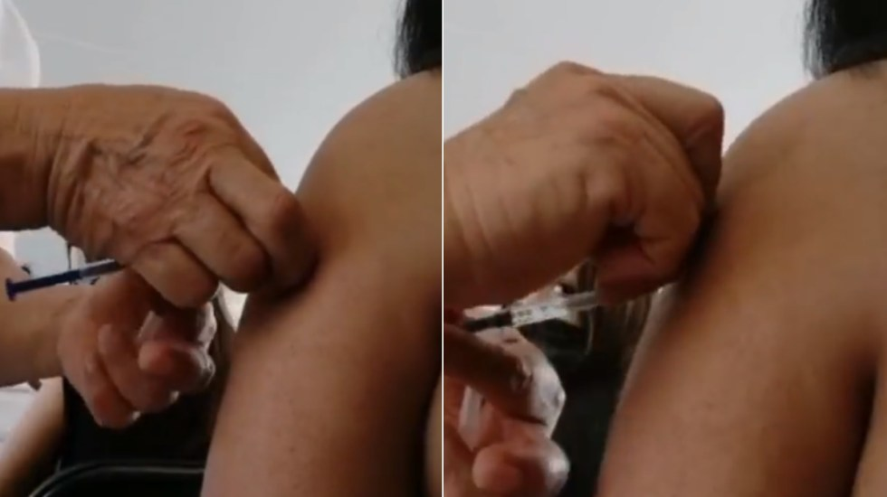 Dan pinchazo sin vacuna contra COVID-19 a joven en Morelia - Michoacán joven vacuna COVID-19 Morelia