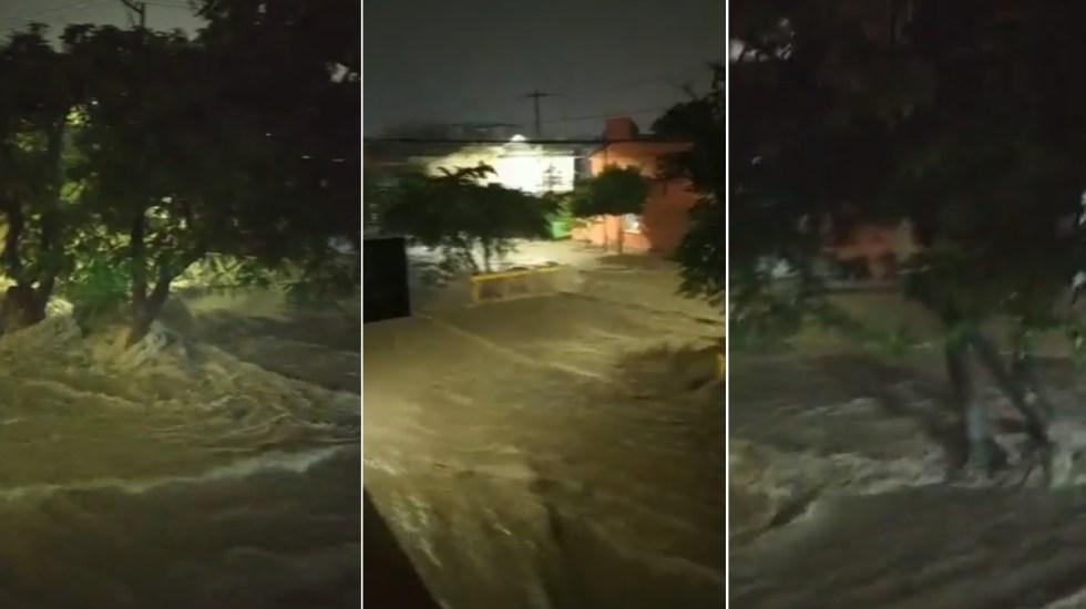 Inundaciones y corrientes de agua en Tuxtla Gutiérrez por fuertes lluvias - Nora tormenta Jalisco Daños Puerto Vallarta 3