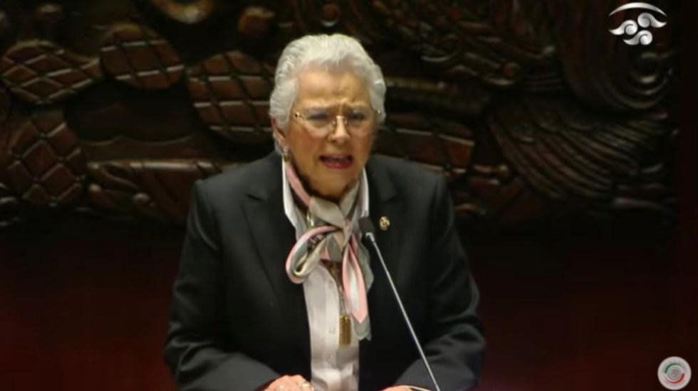 Olga Sánchez Cordero, presidenta del Senado; va 'por y para las mujeres' - Olga Sánchez Cordero 2