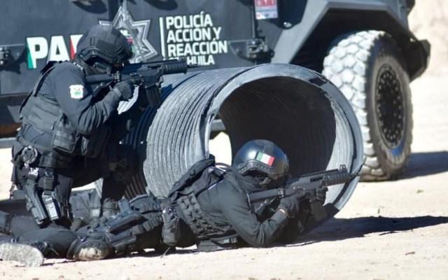Militares y policías abaten en Hidalgo, Coahuila, a nueve sujetos armados - Policía Estatal Coahuila Secretaría de Seguridad pública