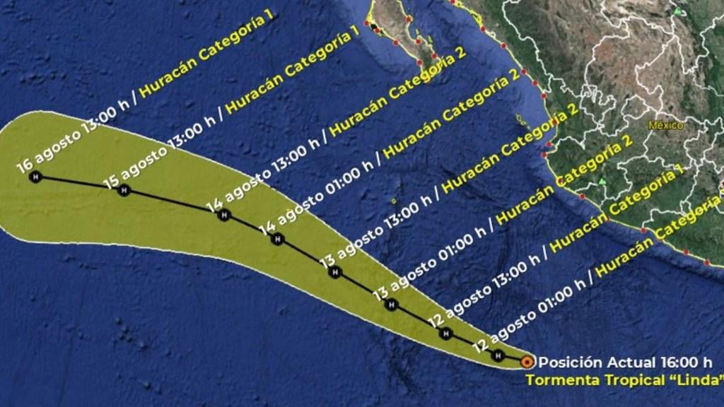 Tormenta tropical Linda se ubica frente a costas de Colima - Tormenta tropical Linda se ubica frente a costas de Colima. Foto de SMN