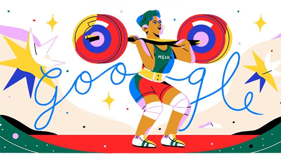Google rinde homenaje a la medallista Soraya Jiménez en el doodle - Doodle de Soraya Jiménez