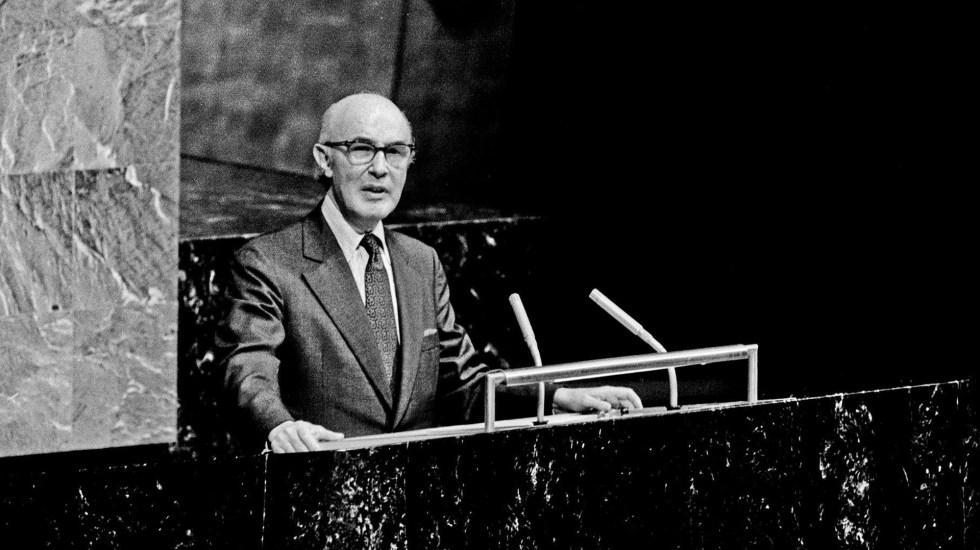 Alfonso García Robles, un nobel mexicano poco conocido - Alfonso García Robles ante la ONU