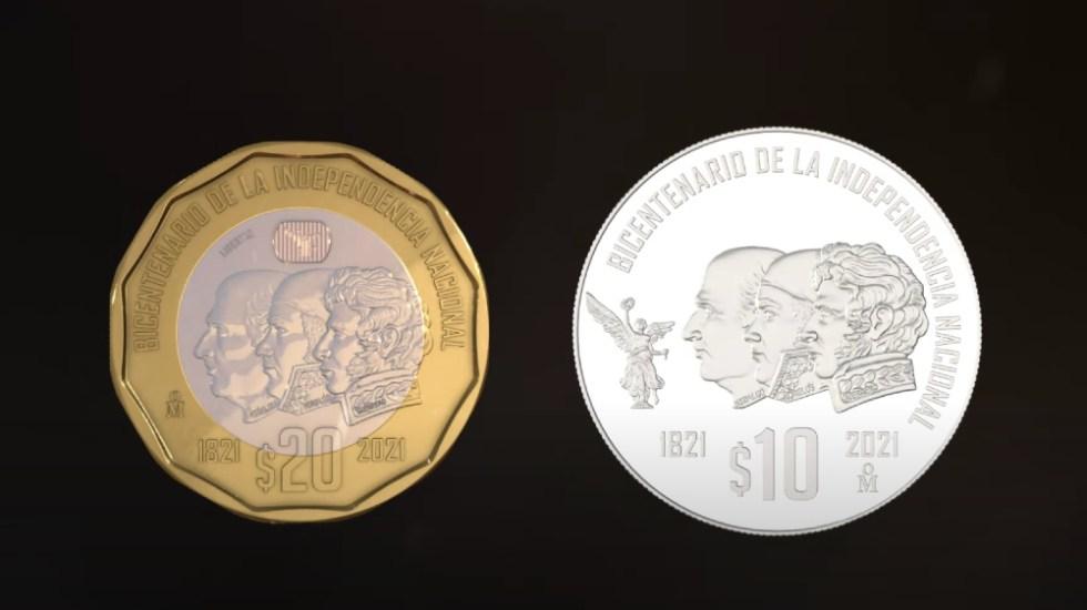 Banxico lanza 6 monedas conmemorativas a Tenochtitlán, Conquista e Independencia - Banxico monedas 200 años Independencia México