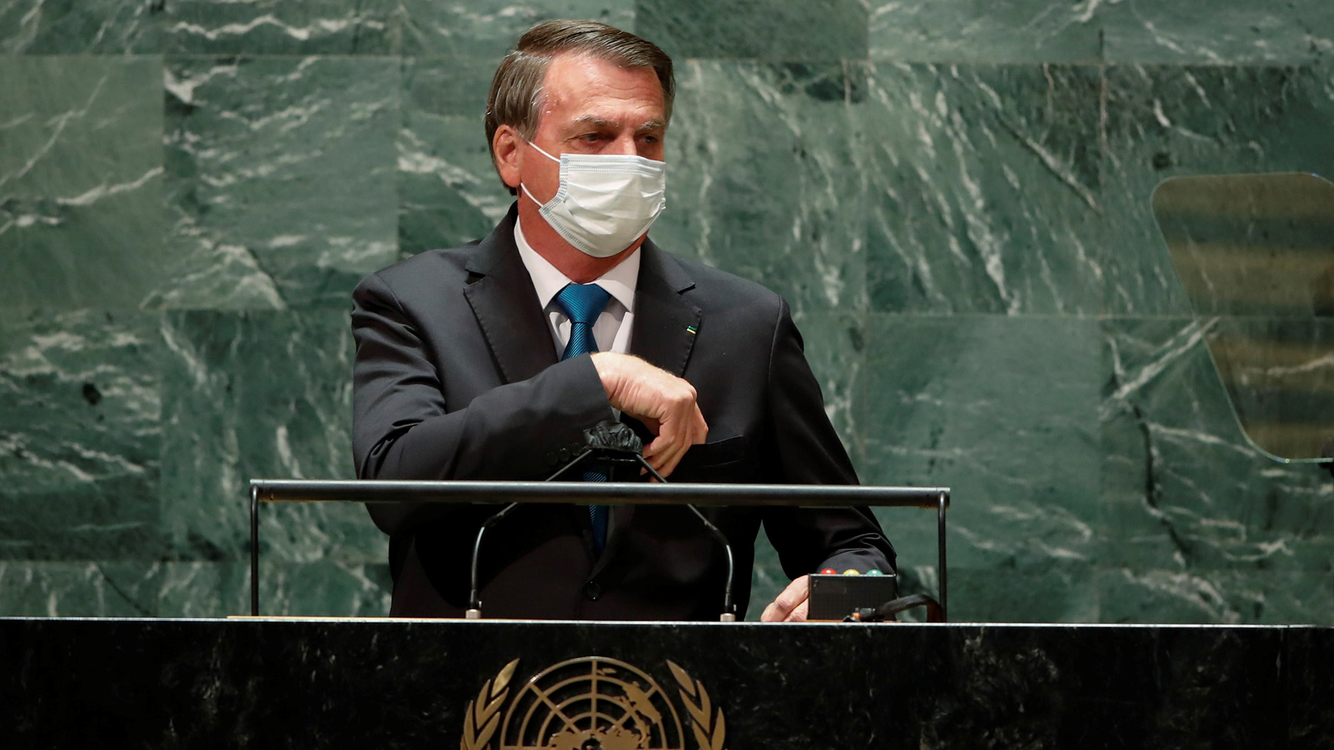 """Bolsonaro defiende un """"tratamiento precoz"""" contra COVID-19 en la ONU"""