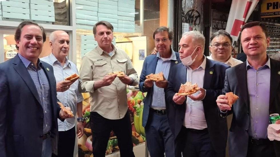 Brasil pide cuarentena para Bolsonaro y comitiva que fue a la ONU - Bolsonaro en Nueva York con comitiva que lo acompañó a la ONU