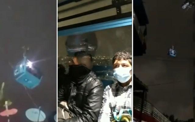 #Video Pasajeros del Cablebús quedan atrapados por sismo - Cablebús sismo temblor ciudad de méxico