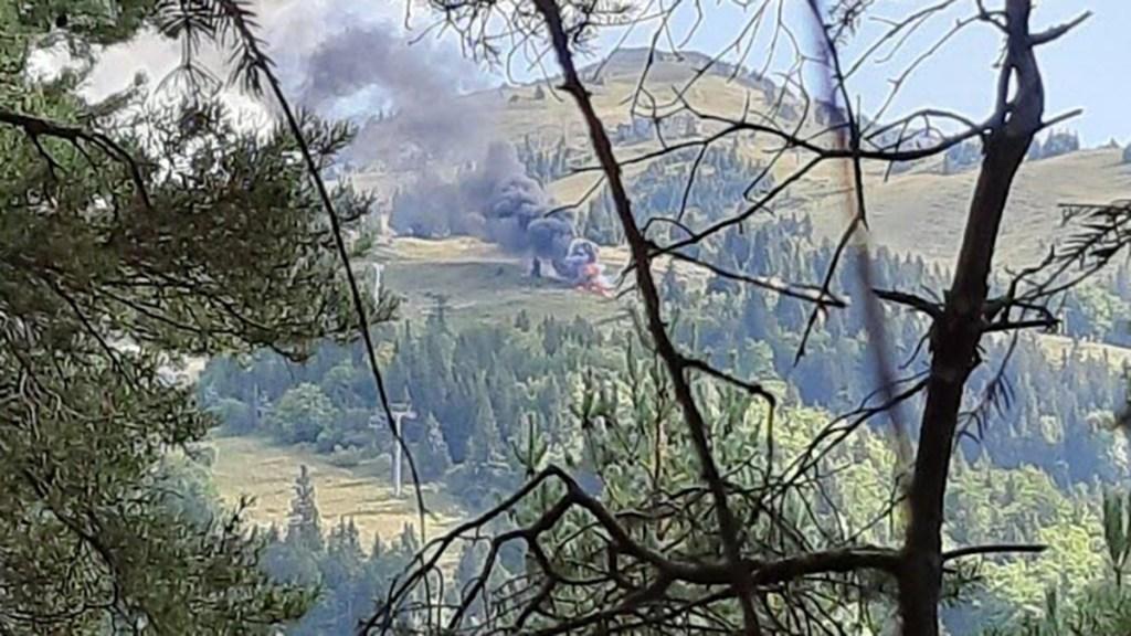 Helicóptero de rescate se estrella en Francia; hay un muerto - Caída y explosión de helicóptero de rescate en Francia