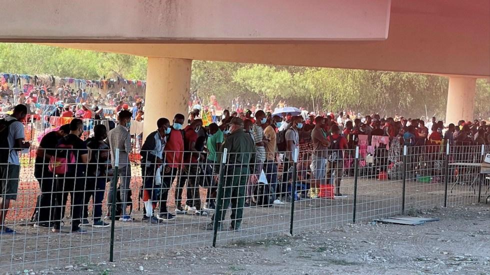 Estados Unidos cierra puente fronterizo por cruce masivo de haitianos - Estados Unidos cierra puente fronterizo por cruce masivo de haitianos. Foto de EFE
