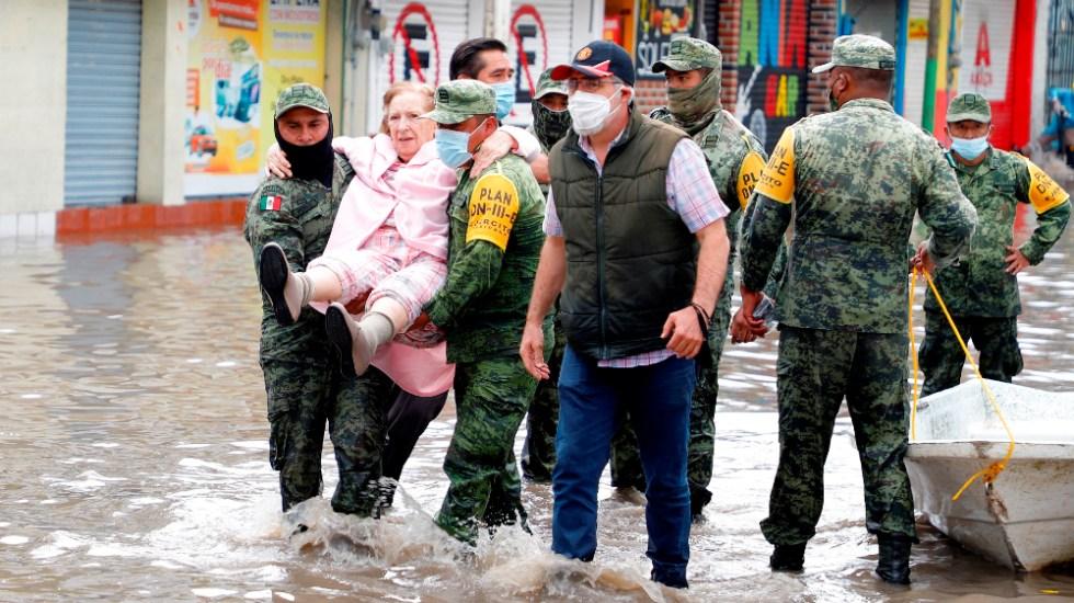 """""""Fuerzas Armadas son fundamentales"""": AMLO asegura que no hay militarización en México - Ejército apoyo Tula Hidalgo inundaciones Fuerzas Armadas"""