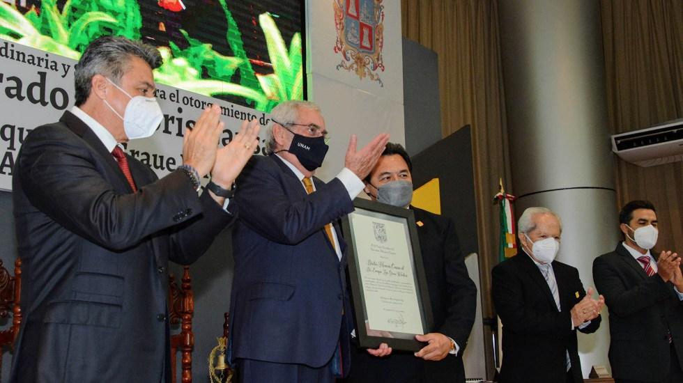 Universidad Autónoma de Campeche distingue al Dr. Enrique Graue con honoris causa - Enrique Graue recibe doctorado honoris causa de la Universidad Autónoma de Campeche
