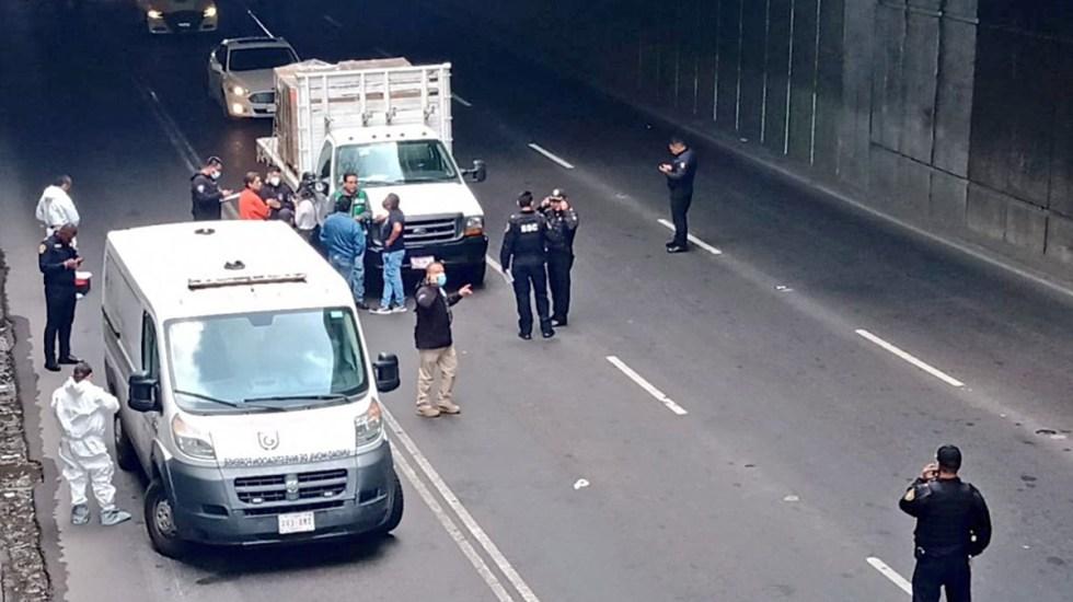 Asesinan en CDMX a presunto miembro de la Guardia Nacional en intento de robo - Escena del asesinato en CDMX de presunto elemento de la Guardia Nacional
