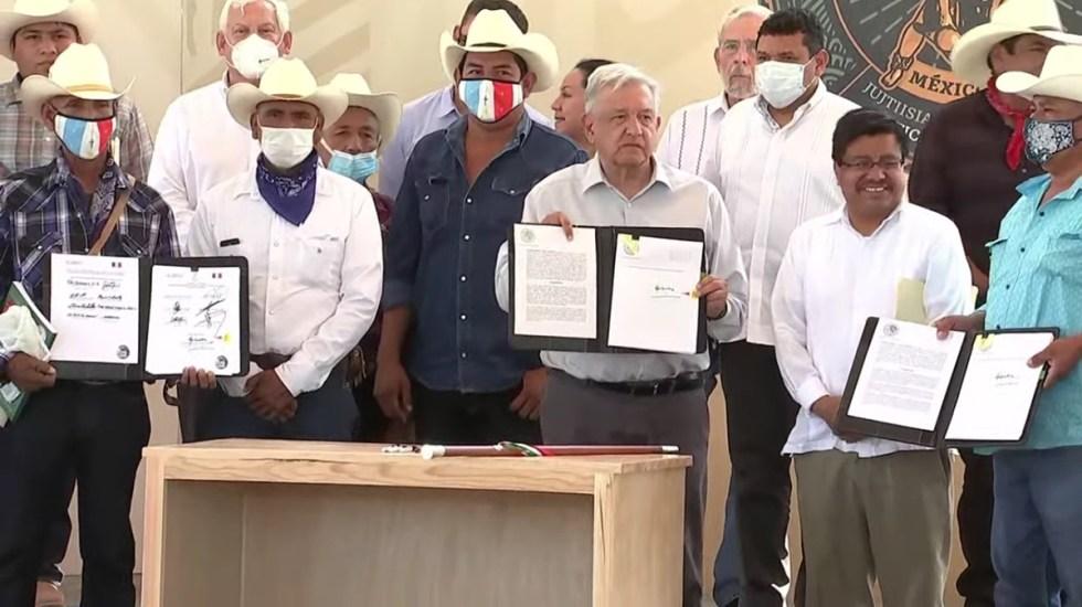 López Obrador pide perdón al pueblo yaqui por crímenes de Estado en el pasado - Firma de acuerdos en beneficio del pueblo yaqui