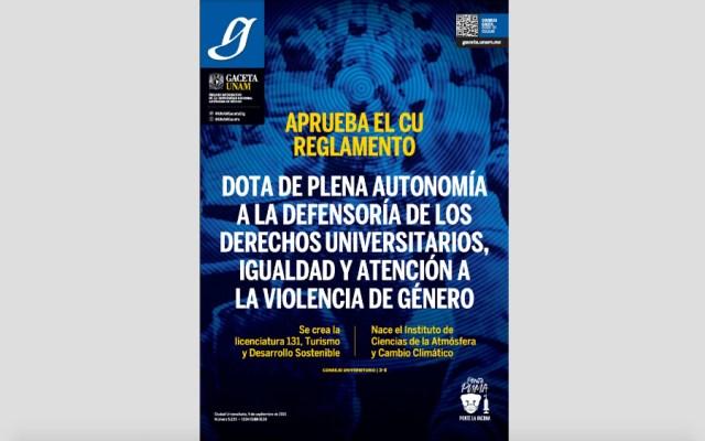 Gaceta de la UNAM (09-09-2021)