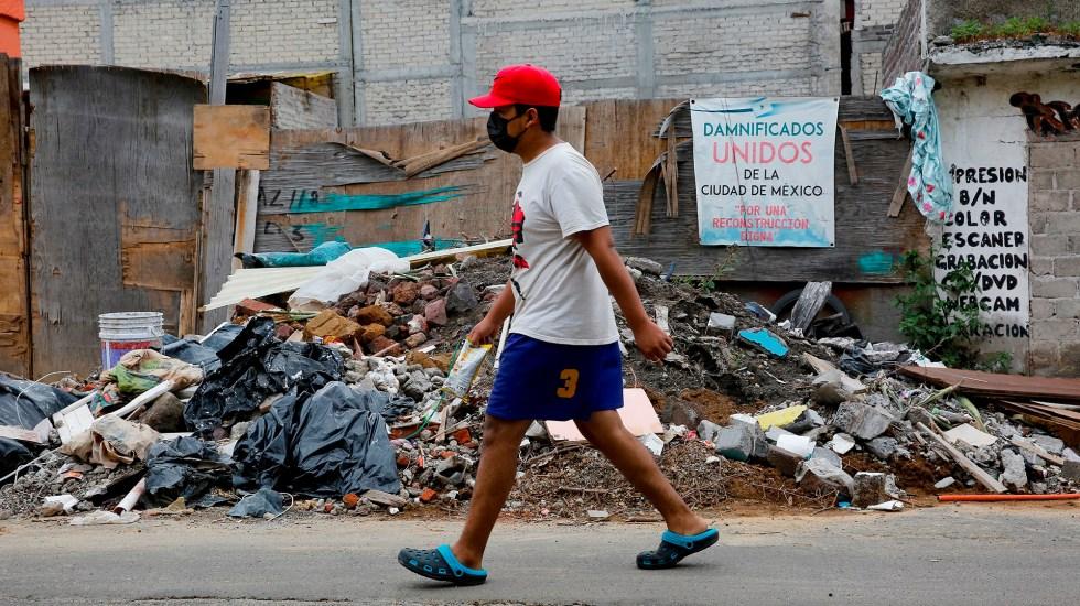 Ciudad de México, a cuatro años del sismo del 19-S de 2017 - Inmueble dañado en Ciudad de México por sismo del 19S de 2017
