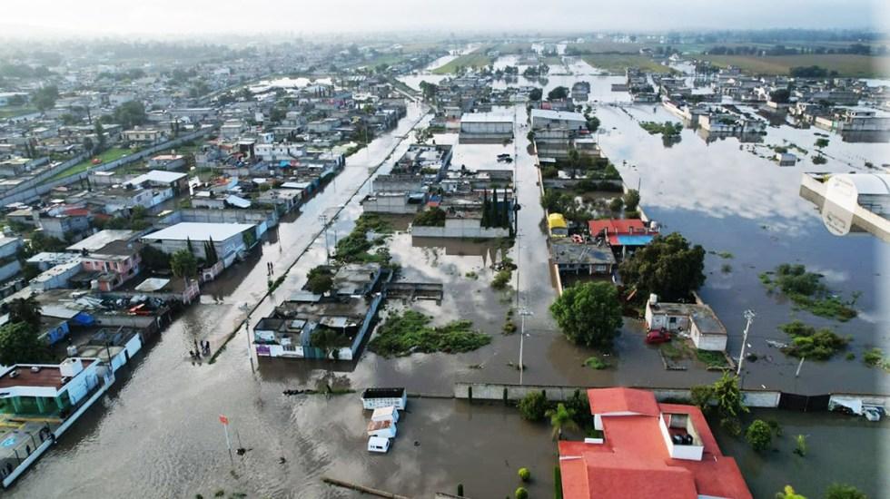 Desborda río El Salado en Hidalgo e inunda Tlahuelilpan - Inundación en Tlahuelilpan