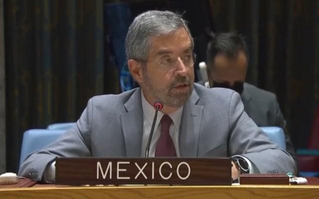 Critica México actuación del Consejo de Seguridad de la ONU en emergencias - Critica México actuación del Consejo de Seguridad de la ONU ante emergencias. Foto de Twitter @MexOnu