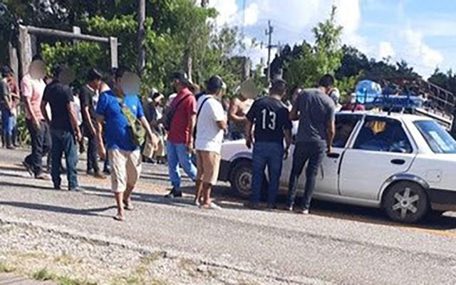 Liberan en Chiapas a agentes de la GN y Migración tras cinco días retenidos - Liberación de agentes de Migración y de la Guardia Nacional
